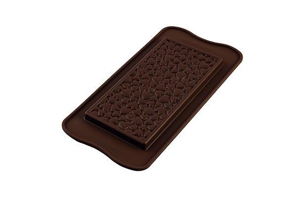 Sil.Forma na čokoládu tabuľka so srdiečkami bar