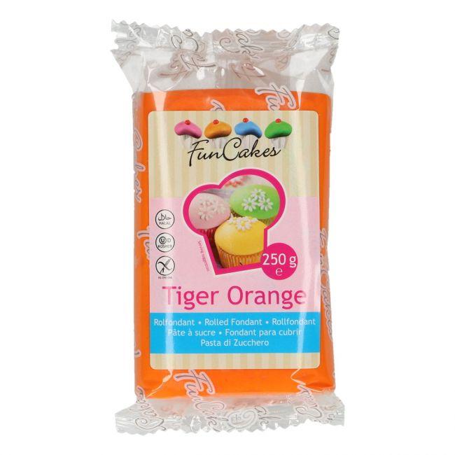 Roll fondant Tiger Orange -  oranžový 250 g