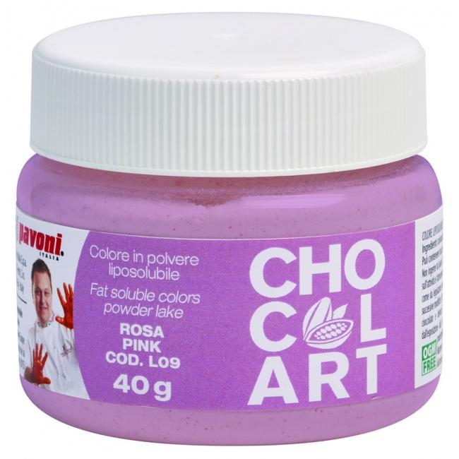 Práškova farba do čokolády ružová 40 g