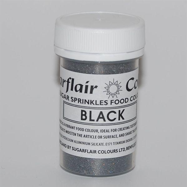 Práškový lesk sugar sprinkles Black-čierny 20 g
