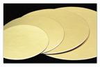 Kartónová podložka kruh 30 cm, zlatá
