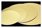 Kartónová podložka kruh 40 cm, zlatá