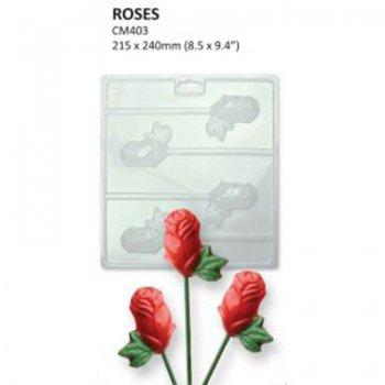 Formičky na čokoládu ruže