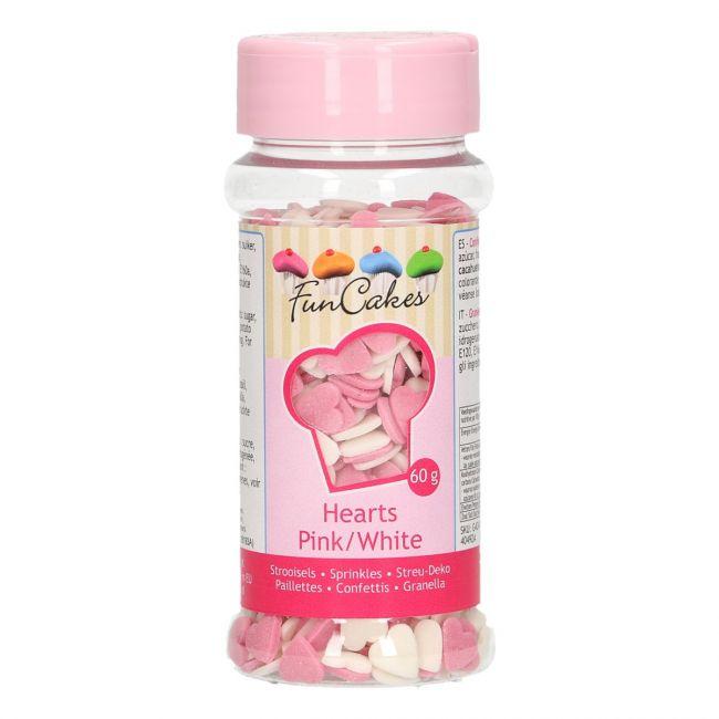 Srdiečka biele a ružové 60 g