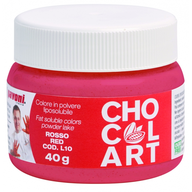 Práškova farba do čokolády červená 40 g
