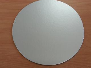 kartónová podložka strieborná 25 cm