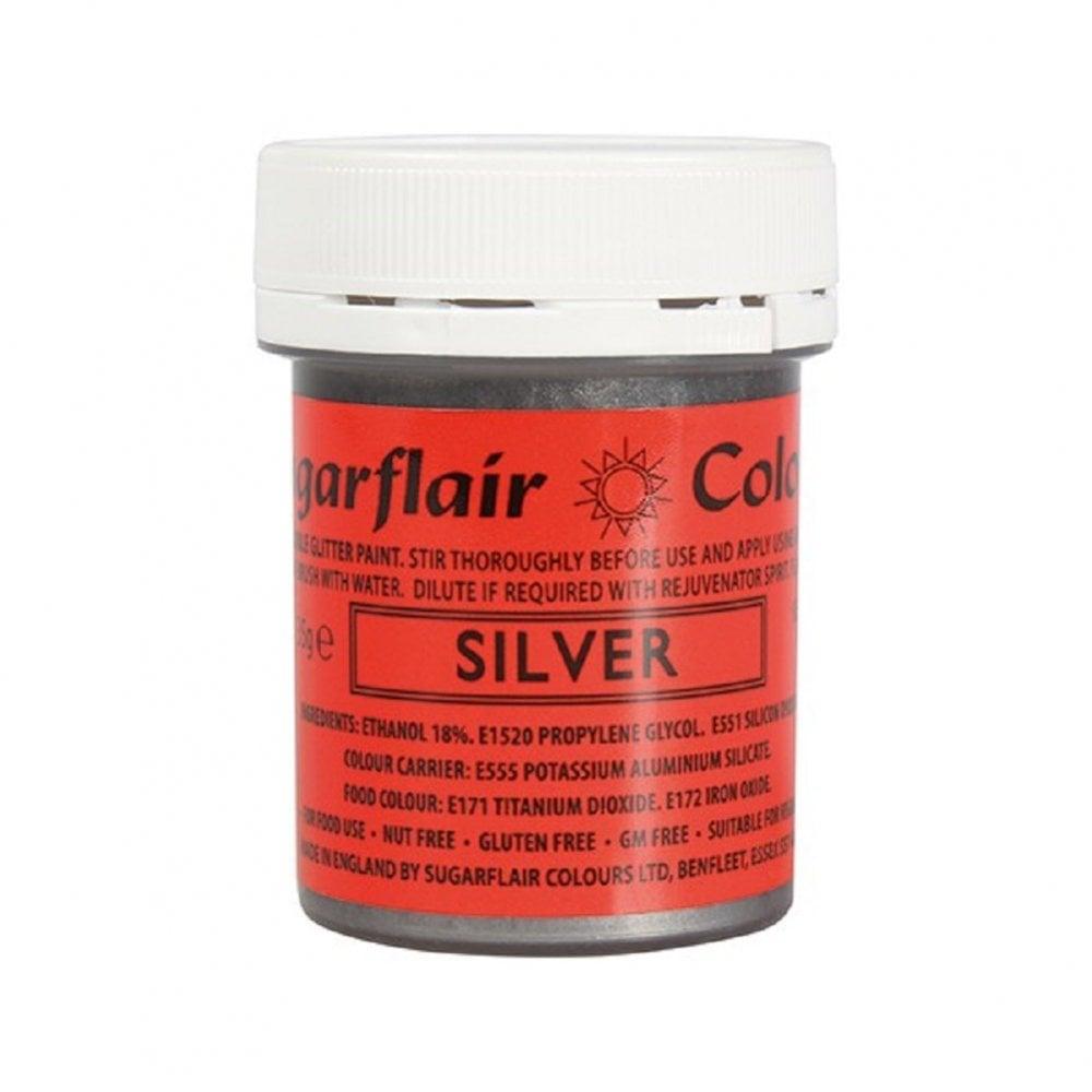 Farba na priame maľovanie Gliter Paint Silver -strieborná 35g