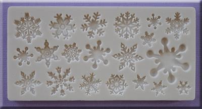 Sil.formička snehové vločky AM0193