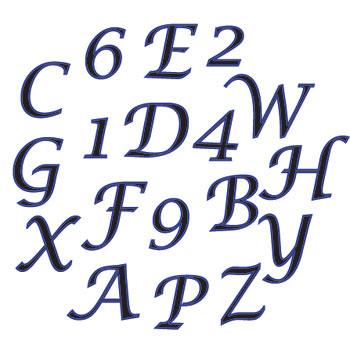 Písmená a čísla kurzíva