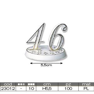 Plastové číslo - 4,5 cm