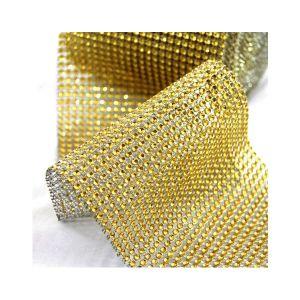 Štrasy zlaté 3 cm/ 4,5m