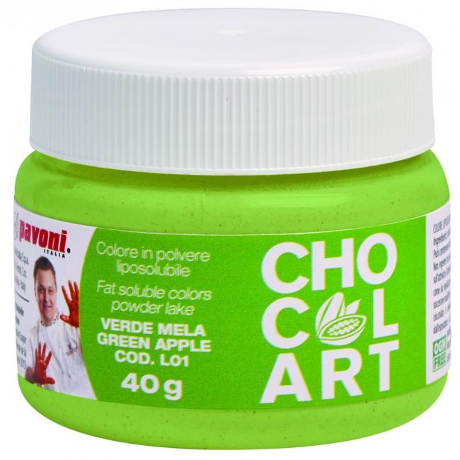 Práškova farba do čokolády svetlo zelená40 g