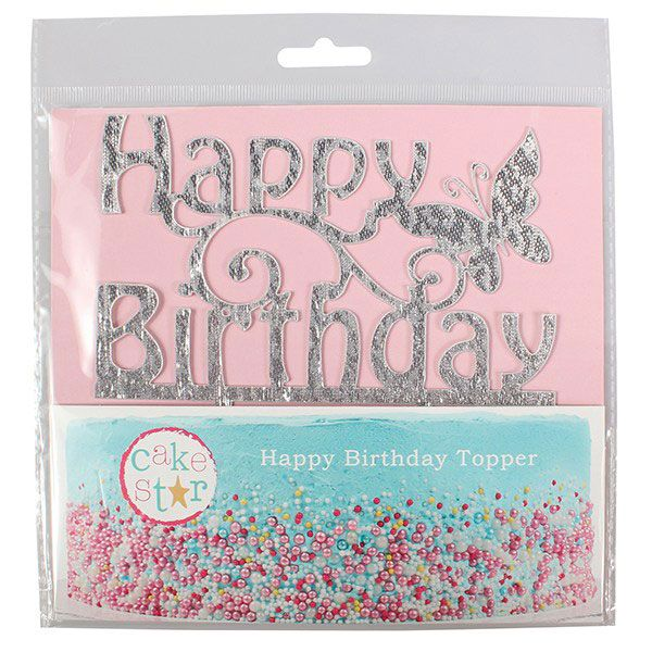 Zapichovacia ozdoba Happy Birthday