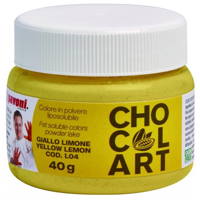 Práškova farba do čokolády žltá 40 g