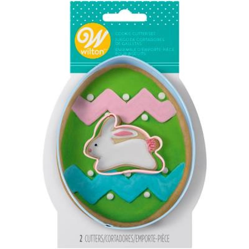 sada 2 ks  veľkonočných vykrajovačiek  zajači + vajce.