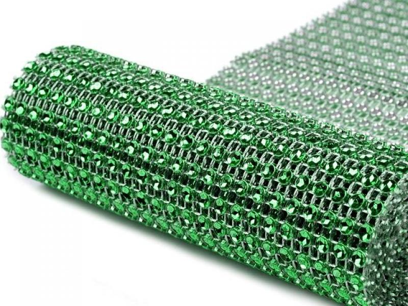 Štrásová stuha zelená